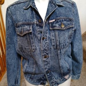 Guess Georges Marciano Acid Wash Jean Jacket L